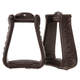 Tough-1 Leather Roper Stirrups Dark Oil