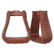 Tough-1 Oversized Leather Bell Stirrups Medium Oil
