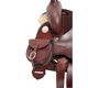 Tough-1 Leather Small Concho Saddlebag