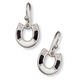Kelly Herd Onyx Silver Single Horseshoe Earrings