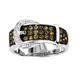 Kelly Herd Ladies Chocolate CZ Buckle Ring 9