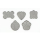 Stainless Steel Pet ID Tag Paw Print