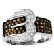 Kelly Herd Pave Buckle Ring Chocolate 9