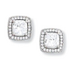 Kelly Herd Cubic Zirconia Square Earring