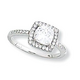 Kelly Herd Cubic Zirconia Square Ring 9