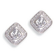 Kelly Herd Square Clear Earrings