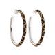 Kelly Herd Cheetah Collection Large Hoop Earrings