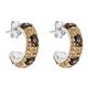 Kelly Herd Cheetah Collection Small Hoop Earrrings