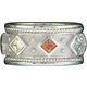 Kelly Herd Silver Multi Stone Ring 9