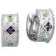 Kelly Herd Silver Multi Stone Earrings