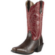 Ariat Ladies Round Up Square Toe Boots 11 Red