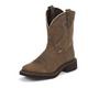 Justin Ladies Gypsy Sq Toe 8in Barnwood Boots 11