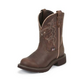Justin Ladies Gypsy Rnd Toe 8in Cafe Boots 11