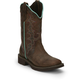 Justin Ladies Gypsy Sq Toe 12in Tan Jag Boots 11
