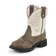 Justin Ladies Gypsy Round Toe 8in Cream Boots 11
