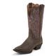 Justin Ladies Stampede Chocolate Puma Boots 11W