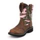 Justin Ladies Gypsy Rnd Toe Pink Camo Boots 11
