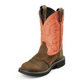 Justin Ladies Gypsy Round Toe 11in Coral Boot 11