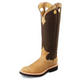 Justin Ladies Rnd Toe 17in Dune Snake Boots 10W