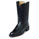 Justin Ladies Roper 10in Black Kipskin Boots