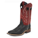 Justin Mens Bent Rail Sq Toe 11in Red Boots 15EE