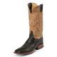 Justin Mens AQHA 13in Sq Toe Antique Boots 13EE