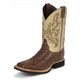 Justin Mens AQHA Q-Crepe White Ostrich Boot 13EE
