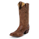 Justin Mens Punchy Sq Toe 13in Tan Boots 13EE