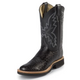 Justin Mens Smooth Ostrich 11in Boots 12EE Choc