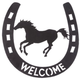 Welcome Wall Decor Running Horse