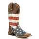 Roper Mens Square Toe American Flag Boot 11.5EE