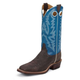 Justin Mens Bent Rail Sq Toe 13in Blue Boot 15EE