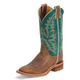 Justin Ladies Bent Rail 11in Turquoise Boots 12W