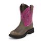 Justin Ladies Gypsy Rnd Toe 8in Fuchsia Boots 11