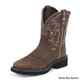 Justin Ladies Gypsy Sq Toe 8in Boots 11 Black/Sued