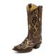 Tony Lama Ladies Vaquero Creme Inlay Boots 9