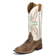 Justin Ladies Bent Rail 13in Ivory Boots 12W