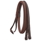 Silver Fox Raised Rubber Grip Reins Brown
