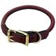 Mendota Rolled Leather Dog Collar