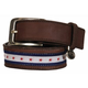 Equine Couture Stars/Stripes Leather Belt XL Red