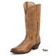 Nocona Ladies Posh Fashion Toe 12in Boots 11 Tan