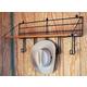 Wood Shelf With 5 Hooks
