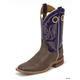 Justin Mens Bent Rail Sq Toe 11in Boots 15EE Blu