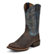 Justin Mens Silver Cattleman Blu/Gry Boots 13EE