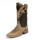 Justin Ladies Bent Rail Sq Metallic/Cow Boot