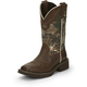 Justin Ladies Gypsy Square Toe 12in Camo Boot 11