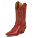 Justin Ladies Vintage Narrow Sq Toe Red Boots 9.5