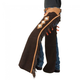 Tough-1 Suede Leather Reining Show Chaps Large Bro