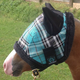 Kensington Mini Fly Mask with Ears B  Red Plaid
