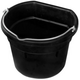 Heated Rubber Flat-Back Bucket 18 Quart